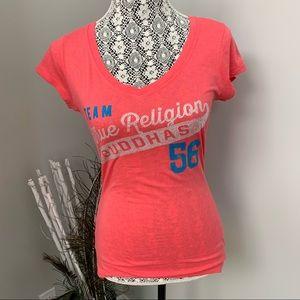 TRUE RELIGION Team Buddhas  T-shirt Pink Size M